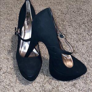 Charlotte Russe black platform Mary Jane heel